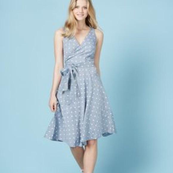 best collection volume large fantastic savings Boden Riviera Dot Linen Wrap Dress